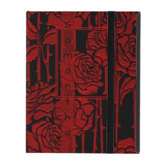 Art Nouveau Red Roses iPad Case