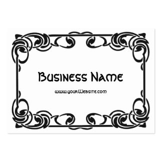 Art Nouveau Retro Chic Black Decorative Border Pack Of Chubby Business Cards