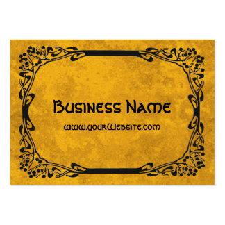 Art Nouveau Retro Elegant Black Decorative Border Large Business Cards (Pack Of 100)