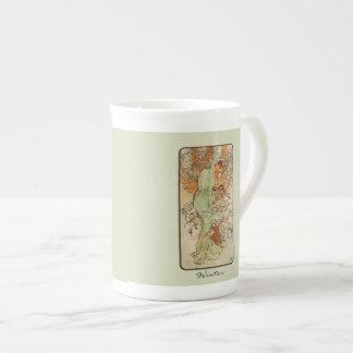 Art Nouveau Seasons China Mug Bone China Mug