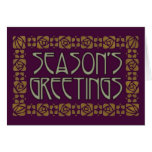 Art Nouveau Season's Greetings Card