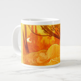 Art Nouveau Sleeping Maiden Jumbo Mug