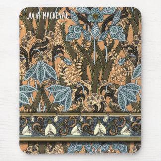 Art Nouveau 'Snowdrops' Mouse Pad
