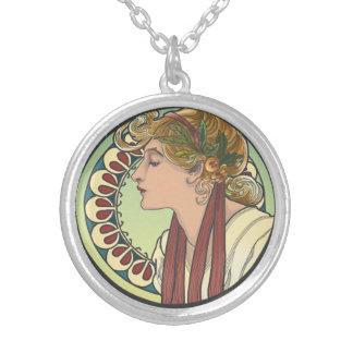 Art Nouveau Sterling Silver Plated Necklace