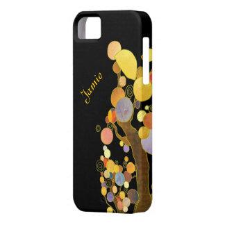 Art Nouveau Style Trees Personalized iPhone 5 Case