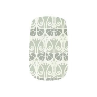 Art nouveau,teal,beige,floral,belle époque,vintage minx nail art