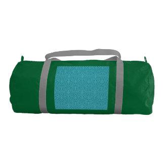 art nouveau, teal,green,art deco, vintage,damask,f gym bag
