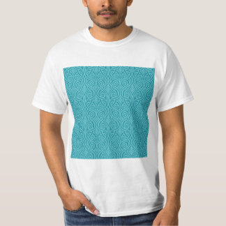 art nouveau, teal,green,art deco, vintage,damask,f T-Shirt