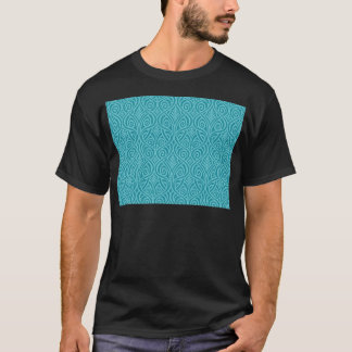 art nouveau, teal,green,art deco, vintage,damask T-Shirt