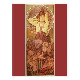 Art Nouveau The Precious Stones, Amethyst Postcard