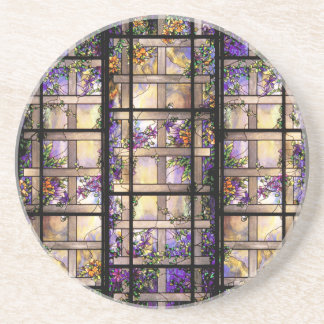 Art Nouveau Tiffany Stained Glass Coaster