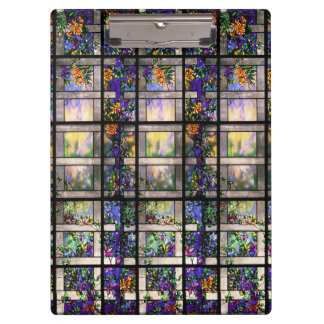 Art Nouveau Tiffany Stained Glass Floral Clipboard