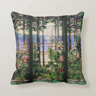 Art Nouveau Tiffany Stained Glass Nature Cushion