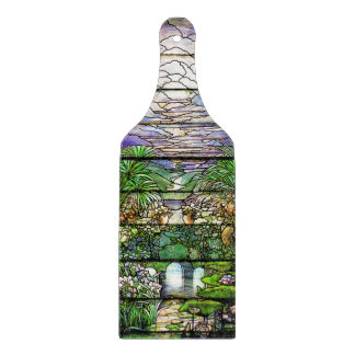 Art Nouveau Tiffany Stained Glass Nature Cutting Board