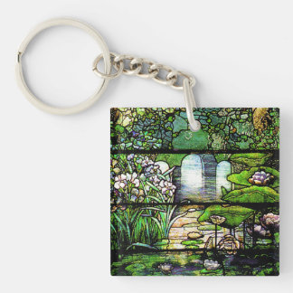 Art Nouveau Tiffany Stained Glass Nature Key Ring