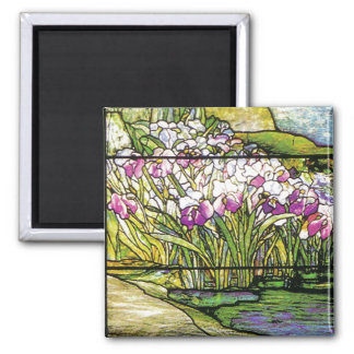 Art Nouveau Tiffany Stained Glass Nature Magnet