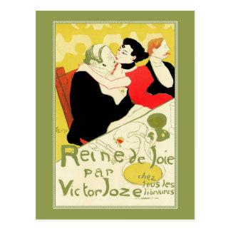 Art Nouveau: Toulouse Lautrec - Reine de Joie Postcard