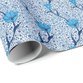 Art Nouveau Tulip Damask, Cobalt Blue