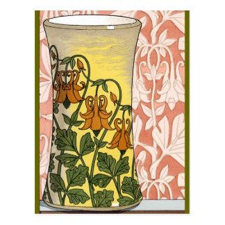 Art Nouveau Vase of Flowers Post Card