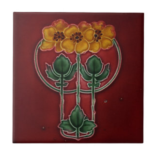 Art Nouveau Vintage Design Feature Tile