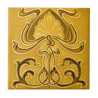Art Nouveau Vintage Design Feature Tile 2 Sizes
