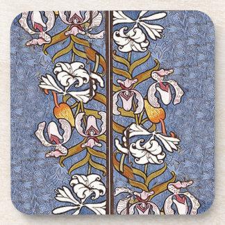 Art Nouveau Vintage Poster Flowers Floral Coaster