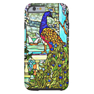 Art Nouveau Vintage Stained Glass Peacock Tough iPhone 6 Case