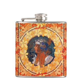 Art Nouveau Vinyl Wrapped Flask