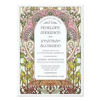 Art Nouveau Wedding Sample Card