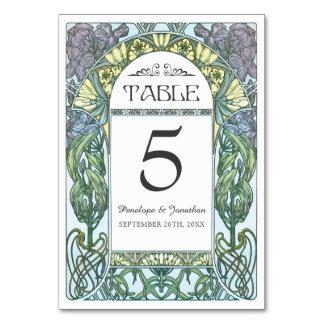 Art Nouveau Wedding Table Cards (Set #1)