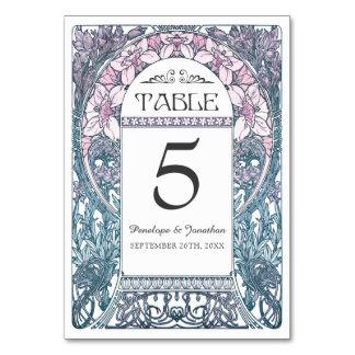 Art Nouveau Wedding Table Cards (Set #8)