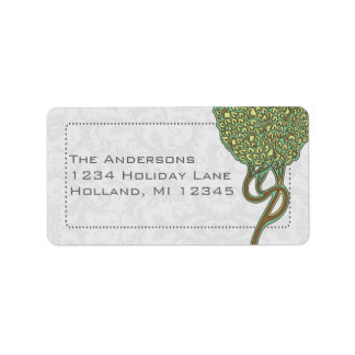 Art Nouveau Whimsical Tree Return Address Labels