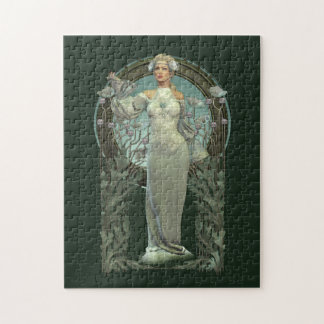 Art Nouveau White Lady Puzzle