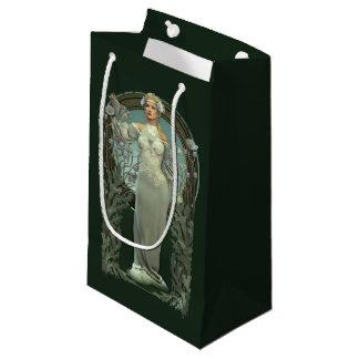 Art Nouveau White Lady Small Gift Bag