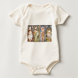 Art Nouveau Windows Baby Bodysuit