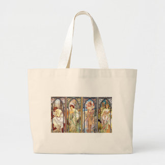 Art Nouveau Windows Large Tote Bag