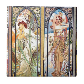 Art Nouveau Windows Tile