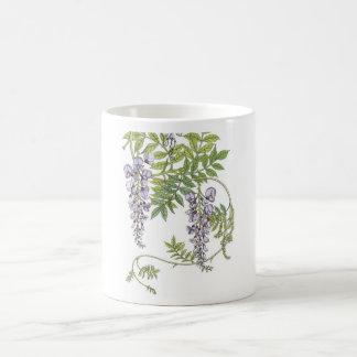 Art nouveau wisteria basic white mug