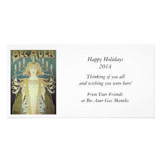 Art Nouveau Woman with Candles Photo Cards
