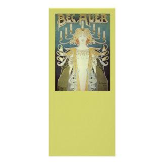 Art Nouveau Woman with Candles Rack Card Design