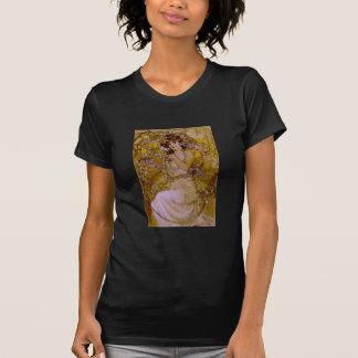 Art Nouveau Woman with Clematis T Shirts