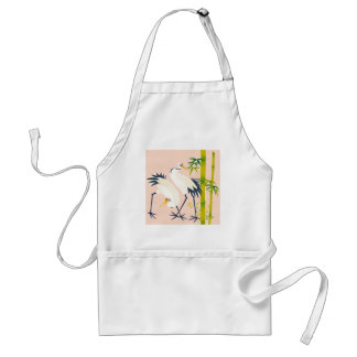 art of beautiful cranes in the bamboo thicket standard apron