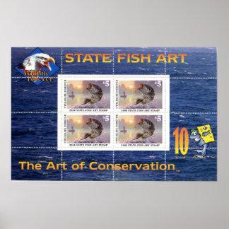 Art of Conservation Stamp Souvenir Sheet 2008 Poster