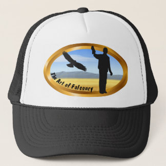 Art of Falconry - Oval Trucker Hat