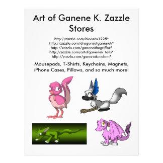 Art of Ganene K. Promotional/Advetisement Flyer