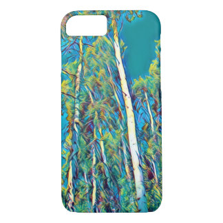 Art of Nature; White aspen trees against blue sky iPhone 8/7 Case
