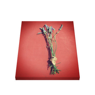 Art on Canvas Photo Vintage French Red Lavender
