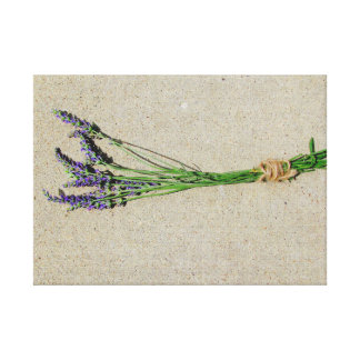 Art on Canvas Photo Vintage French Style Lavender