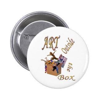 Art Outside the Box Pin