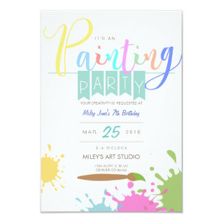 Art | Paining Party Card
